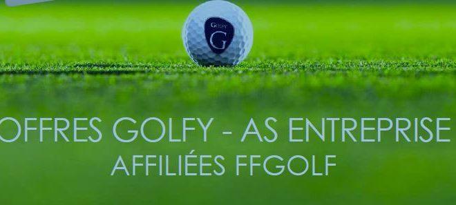 Offre Golfy – AS Entreprises affiliées FFGolf